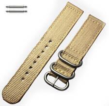 Khaki Nylon Watch Band Strap Belt Army Military Ballistic Silver Buckle #6039