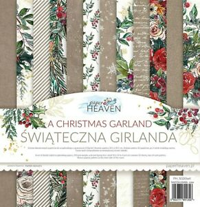 """12"""" x 12"""" scrapbooking paperpad cardstock A Christmas Garland 12 sheets"""