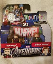 MiniMates Marvel AVENGERS Hawkeye & Black Widow