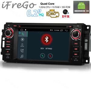 Android 10 OBD+ Autoradio GPS NAVI Touchscreen Für Jeep Compass Caliber Sebring