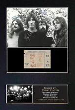 #193 PINK FLOYD No1 Reproduction Autograph Mounted Signed Photograph A4