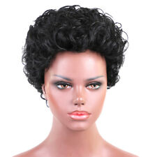 Cheveux naturels humains femmes afro bouclés perruque courte perruques de