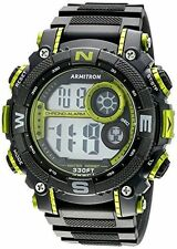 Armitron Men's Black Resin Watch, 100 Meter WR, Chronograph, 40/8284LGN