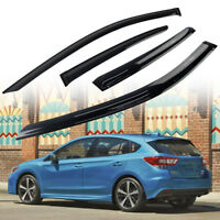 For Subaru Impreza 5D Hatchback Smoke Side Window Visor Rain Sun Shade