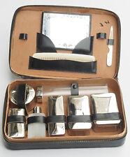 Vintage Large Travel Grooming Set with Safety Razor Shave Kit Blades Boxes Dorko