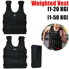 20/50kg Max Loading Adjustable Weighted Workout Vest Empty Waistcoat Fitness Gym