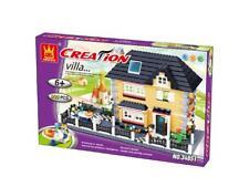 House Building Blocks Bricks -Creation-Villa Country-Wange