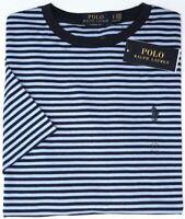 NEW $49 Polo Ralph Lauren Short Sleeve T Shirt Mens Blue Stripe Tee Classic Fit