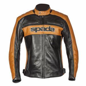 SPADA TURISMO LEATHER MOTORCYCLE MOTORBIKE JACKET BLACK & GOLD ALL SIZES