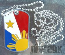 Philippines Dogtag Pinoy Pinay Pride Pendant Charm Necklace Souvenir SHIMMER