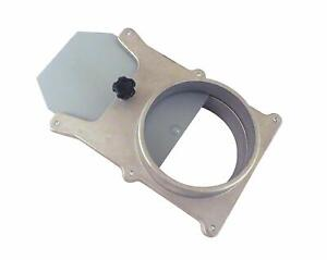 """4""""OD Self Cleaning No Clog Aluminum Blast Gate Cut Off Valve for Dust Collection"""