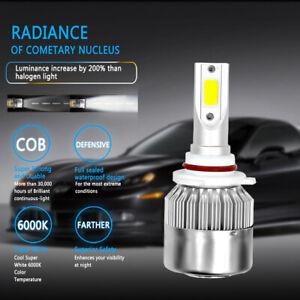 2Pcs COB C6 9006 Car LED Headlight 72000LM 6000K Hi/Low Beam Light Bulbs Kits US