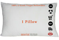 Hollowfibre Pillows Bounce Back Extra Filled Hotel Quality 1 Pillow Soft Super