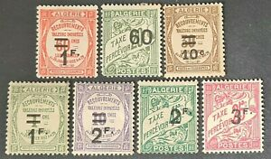STAMPS ALGERIA 1927 POSTAGE DUE MINT HINGED 2 NO GUM - #4613
