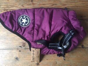 V. Pet. B.R. Fashion Sports Small Dog Puffa Jacket - Purple