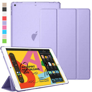 For iPad 8th 7th 6th 5th Gen 10.2 9.7 Leather Shell Smart Case Folio Stand Cover