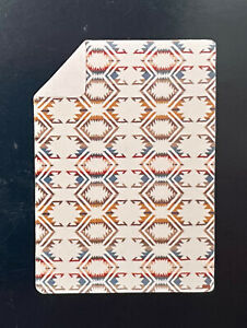 "Pendleton WHITE SANDS Sherpa Fleece Throw Blanket 92"" x 66"" Twin Bed Size NWT"