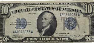 Savoca Coins USA 10 Dollars 1934 A 60316955 A Banknote =BZA72894