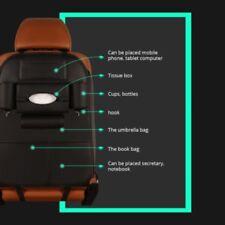 Car Seat Back Bag Organizer Storage Holder Multi-Pocket Leather Black