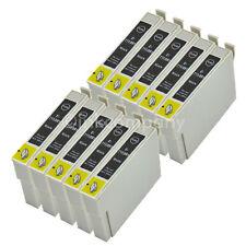 10 Tintenpatronen Druckerpatronen kompatibel zu EPSON T0711 XL BLACK BK mit Chip