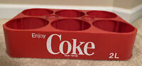 Vintage Coca Cola Coke Red Plastic Crate - Crate Caddie Holds Six 2 L Bottles