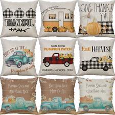 "18"" Pumpkin Cotton Linen Sofa Waist Cushion Cover Pillow Case Home Decor"