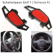 VW Golf 7 GTI R DSG Alu Schaltwippen Schwarz Verlängerung Schaltung Shift Paddle
