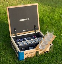 Handcrafted portable mini bar, drinks box, jerry can, military, hamper, G & T.