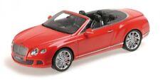 Bentley Continental Gt Speed Convertible 2013 Red 1:18 Model MINICHAMPS