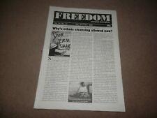Freedom Anarchist Fortnightly Ethnic Cleansing Milosevic 18 November 2000