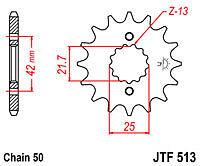 Kawasaki ZXR750 H1 & H2 1989 & 1990 jt Front Sprocket 1 Tooth Less