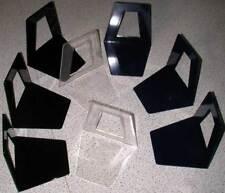 2 Buchstütze Buchstützen Buchständer schwarz blau klar Aufsteller Stehhilfen