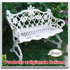 Panchina in alluminio panca modello floreale per arredo casa giardino
