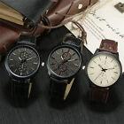 Hot Men Sports Luxury Leather Watches Men Business Casual Quartz Wristwatch