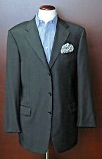 Hickey Freeman Men's Charcoal Gray Wool Sport Coat Blazer 42L 42 Long