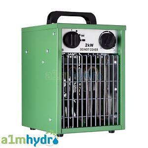 Hydrogarden 2KW Electric Greenhouse Fan Heater Built In Thermostat Hydroponics