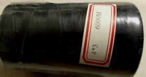 100% Silk Sewing Applique 50 weight Black Thread 6,000 meters on a cone spool