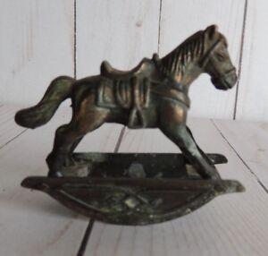 1976 Miniature Rocking Horse Hobby Horse by Durham Metal  Dollhouse