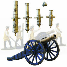 Seven Years War Cannon & Howitzer Artillery 40mm Prince August Moulds PA3117