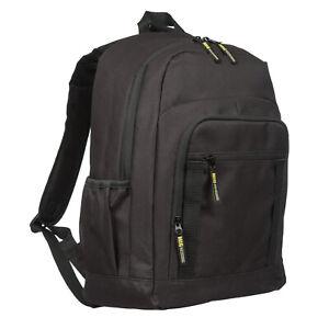 Mens Large Black Premium Backpack Rucksack Bag HIKING TRAVEL SPORTS WORK SCHOOL
