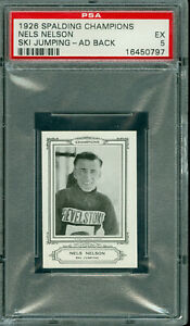 1926 SPALDING OLYMPICS NELS NELSON SKI JUMPING AD BACK BGS 5  100 MINTED *