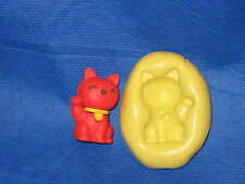 Maneki neko lucky Cat Silicone Mold #12 For Chocolate Candy Resin Fimo Soap