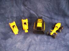 Tonka Construction Toys Bull Dozer,2 Bob Cats and Road Grader