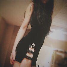 Japanese Harajuku Vintage Gothic Lolita Punk Sexy Slim Black Cheongsam Dress