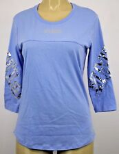 NWT VICTORIA'S SECRET PINK SEQUIN GRAPHIC  LONG SLEEVE SHIRT LARGE +A110