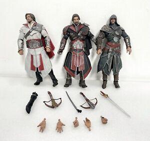 NECA - Assassins Creed Brotherhood - Ezio Onyx Assassin Action Figure Lot Of 3