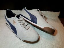 PUMA Men's Suede Leather Sneakers Shoes US 10.5 EU 44 pre-owned gray blue roma