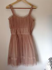 Pre-Loved 100% Auth Itallian Stunning Pale Pink Dress & Bow. 8/10 Wedding !