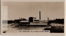 Tin Dredge In Malaya Tin Ore Mine South East Asia 1920s Ad Trade Card