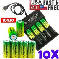 Lot  CR123A Rechargeable Lithium Batteries 3.7V For Netgear Arlo Security Camera
